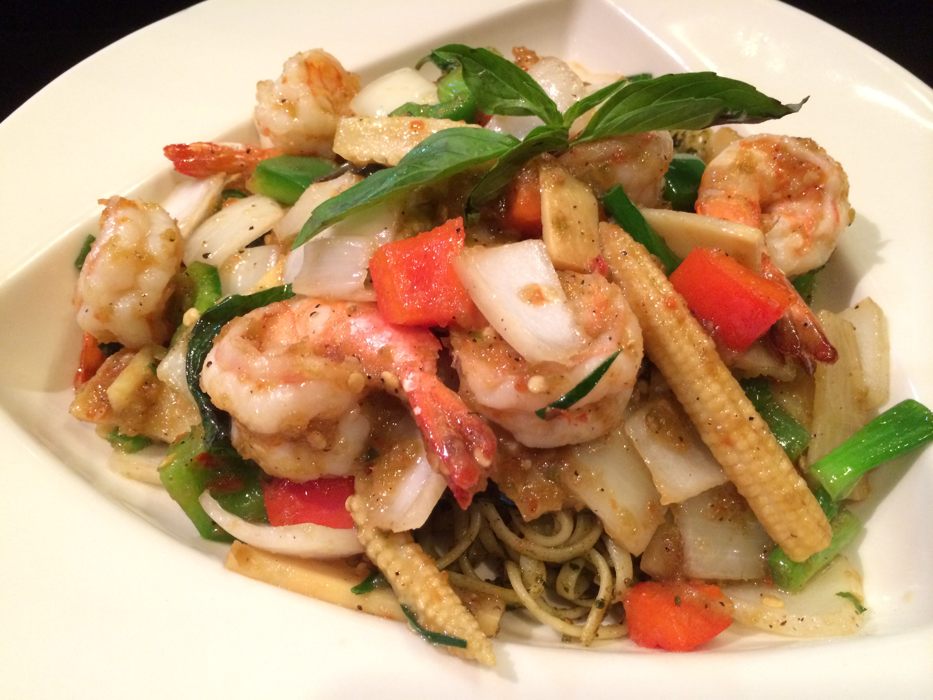 Shrimp Thai Pecan Pesto Basil