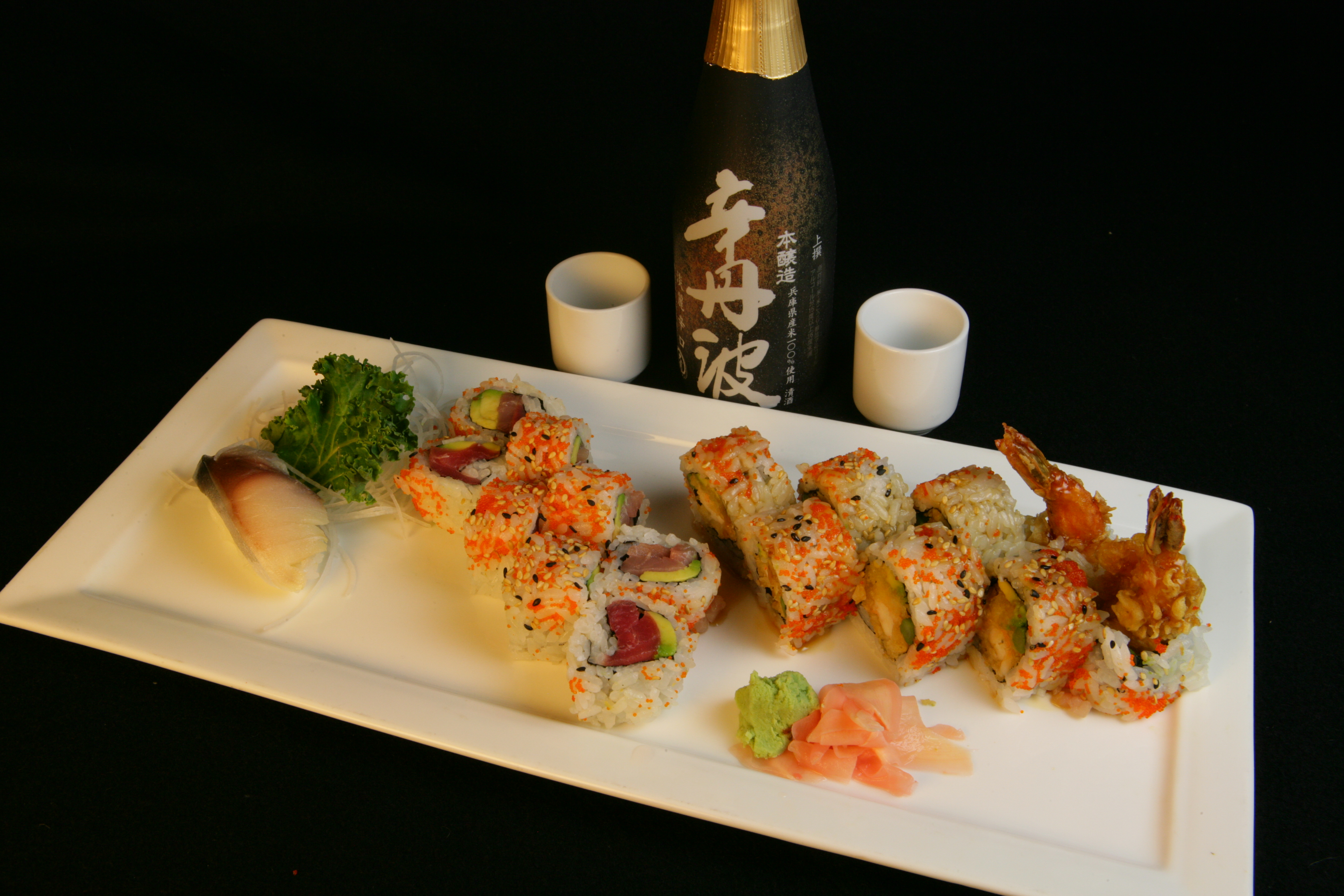 Florida and Shrimp Tempura Rolls